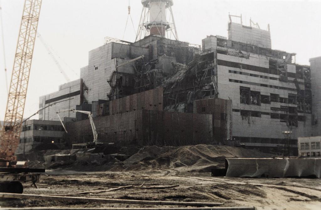 Fotografija snimljena 5. kolovoza 1986. godine, kada su u tijeku bili radovi na popravku nuklearne elektrane u Černobilu.
