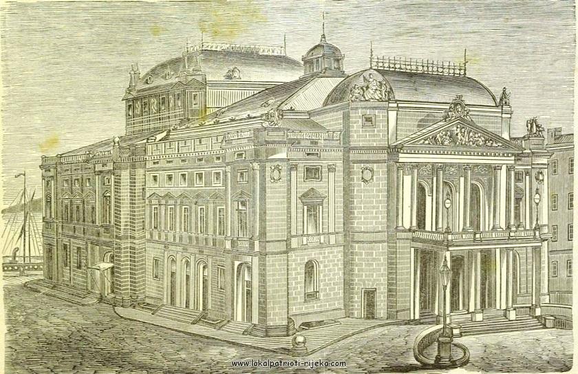 Na današnji dan 1885. godine otvorena je zgrada HNK Ivana pl. Zajca u Rijeci. Na slici je nacrt iz iste godine.
