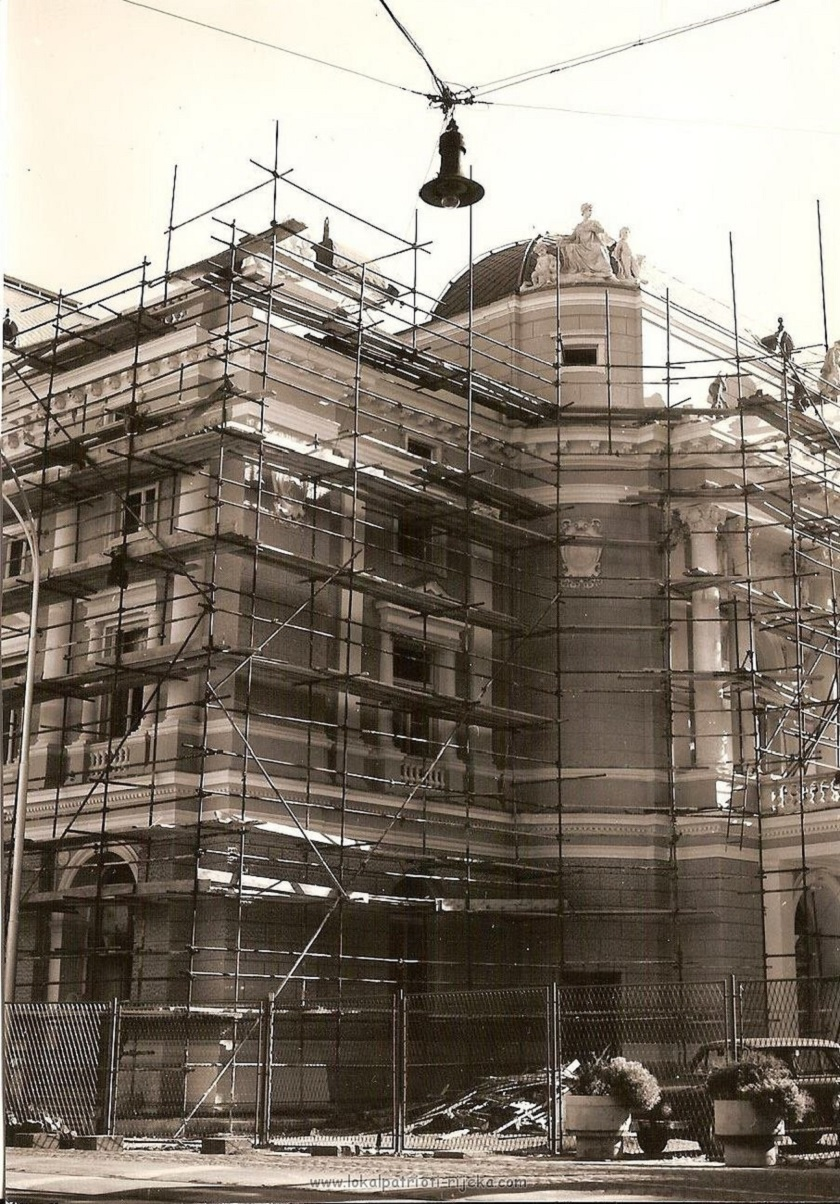 Za otvorenje su pripremljenedvije velike opere, dotad neizvedene u gradu Rijeci. (Fotografija iz 1970-ih)