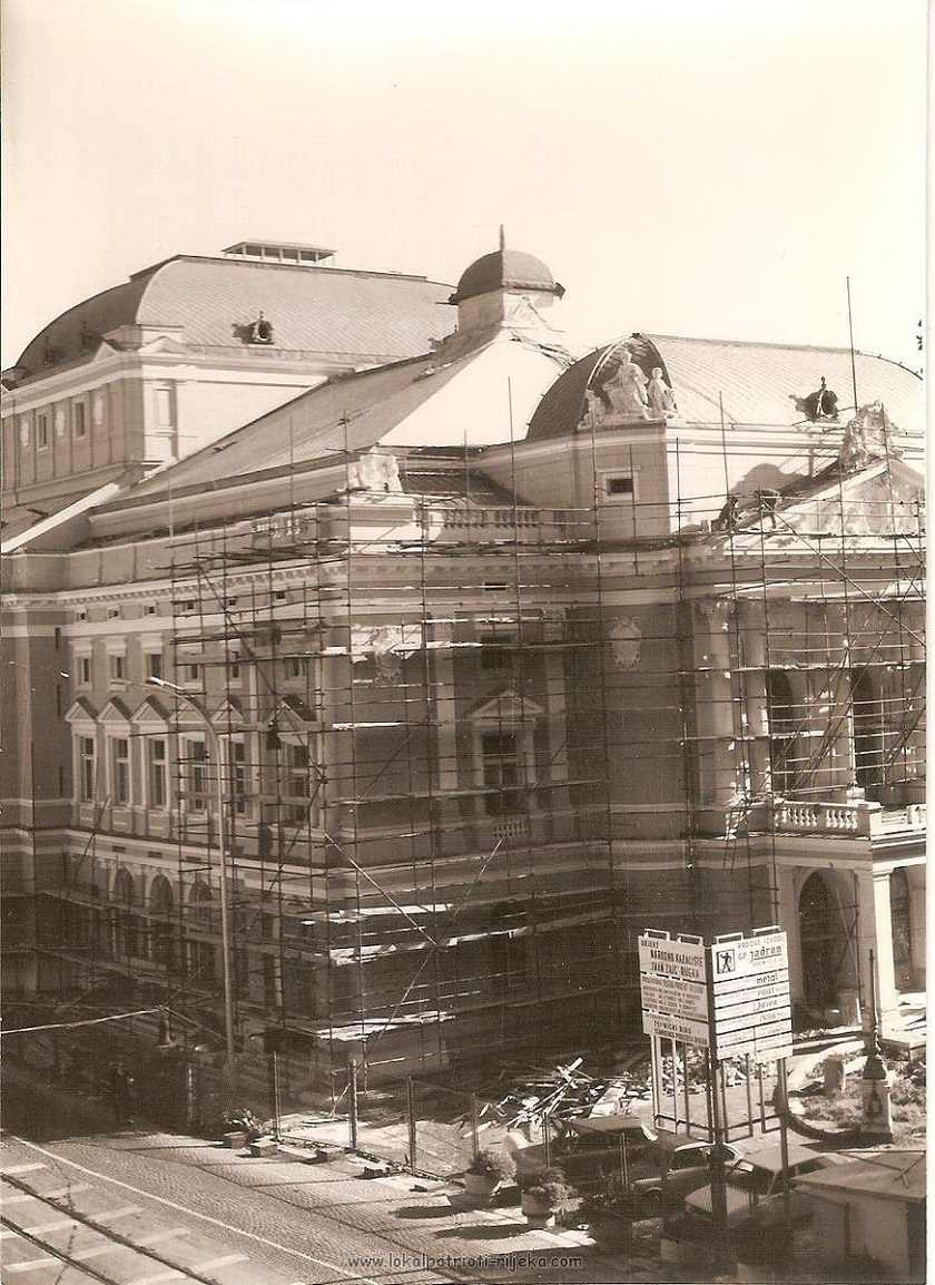 U svojoj je bogatoj povijesti riječko kazalište nekoliko puta mijenjalo naziv. (Fotografija iz 1970-ih)