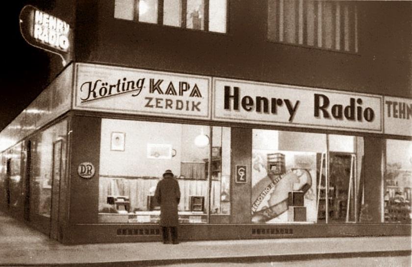 Trgovina Henry Radio u Bogovićevoj 1935. godine.