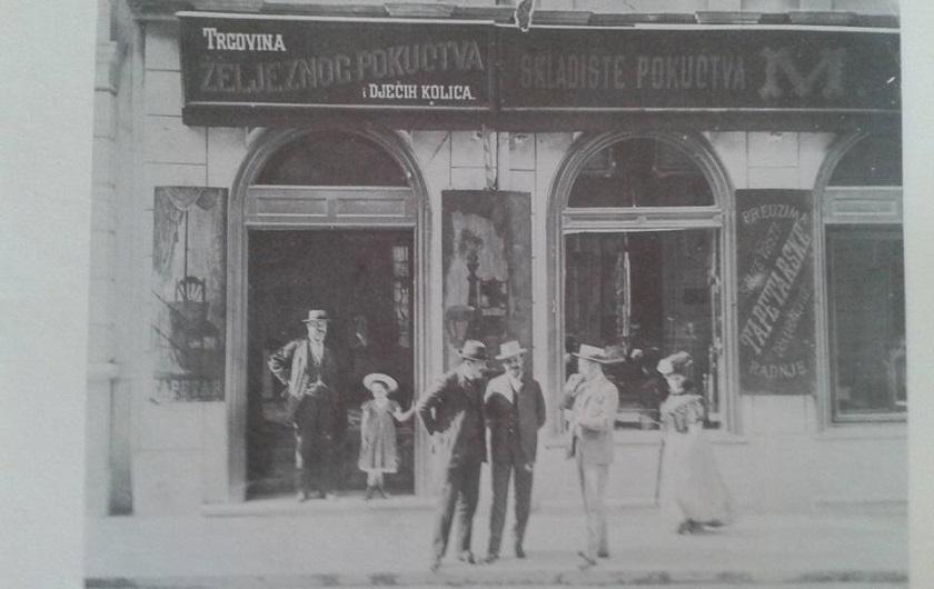 Trgovina željeznog pokućstva u Ilici 1912. godine.