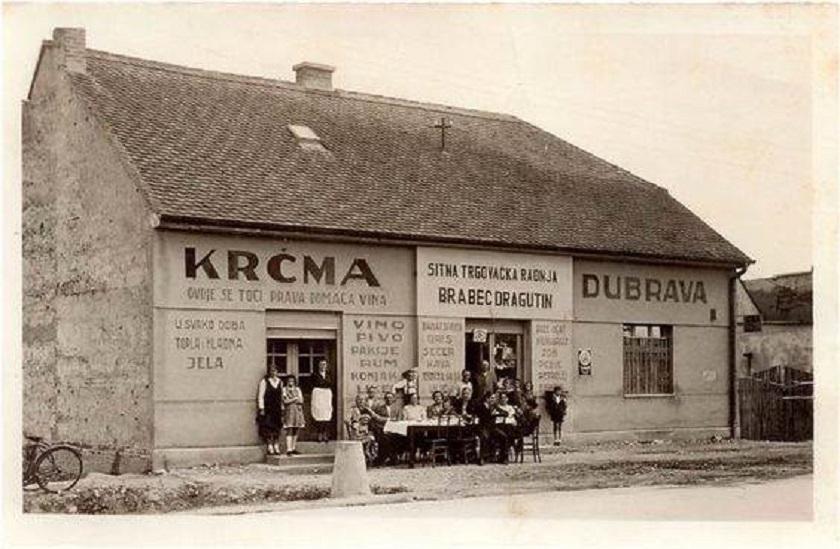 Trgovina i gostiona u jednom na adresi Dubrava 6, godine 1941.