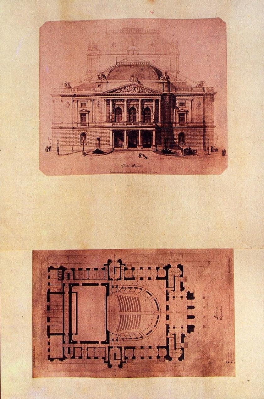 Nacrt pročelja i tlocrt zgrade HNK pronađeni u tubi.