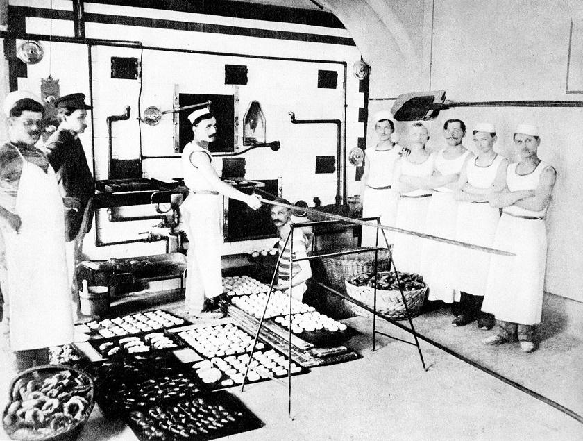 Pekarna Rudolfa Rukavine (Parižka pekarna) 1910. godine u Ilici.