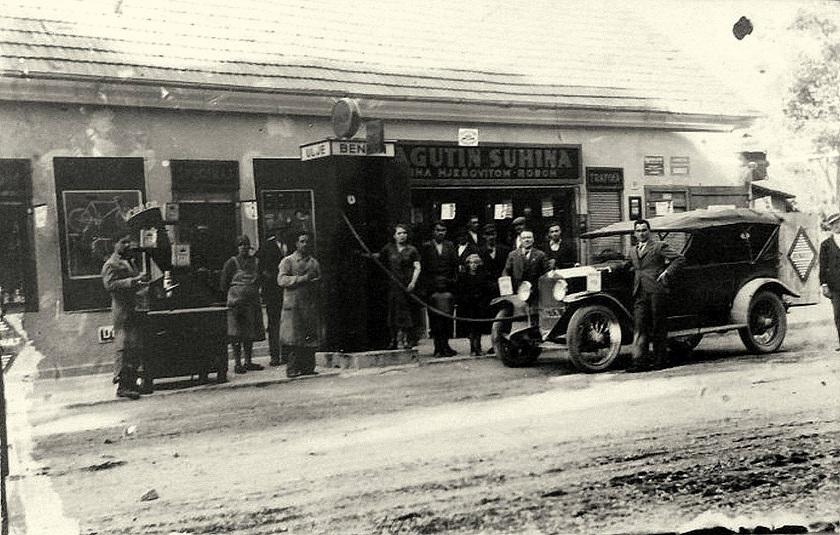 Trgovina mješovitom robom i pumpa u Podsusedu 1930-ih godina
