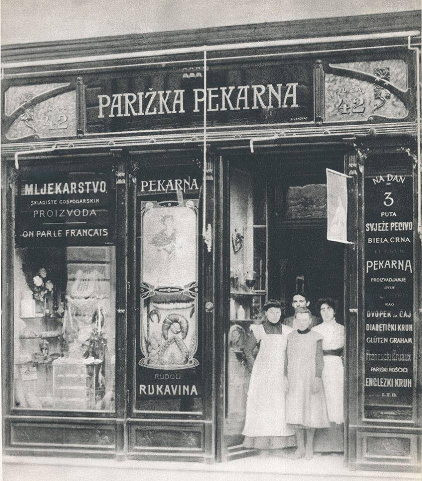 Parižka perkarna snimljena 1910. godine na adresi Ilica 42. Vlasnik je bio Rudolf Rukavina.