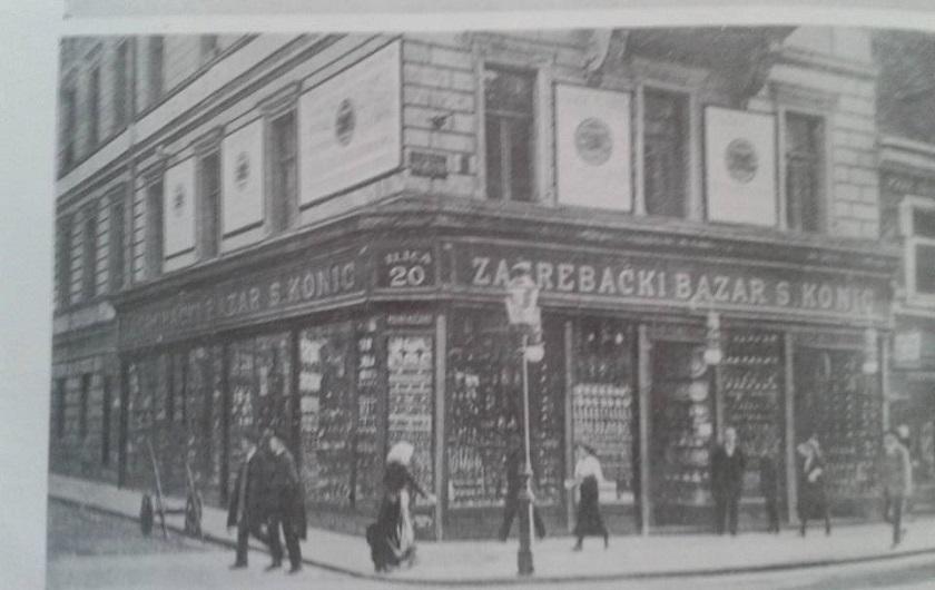 Trgovina Zagrebački bazar na adresi Ilica 20, godine 1915.