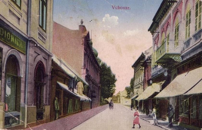 Rezidencija Paunović na razglednici. Radilo se o jednoj od najbogatijih vukovarskih obitelji.