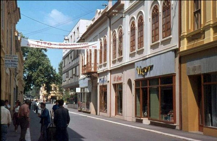 Centar Vukovara 80-ih godina.