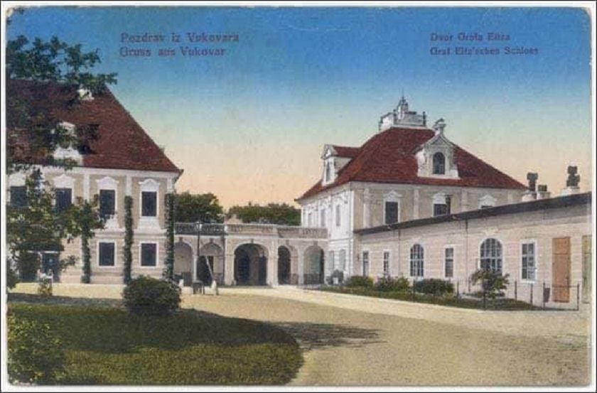 Stara razglednica s motivom dvora grofa Eltza.