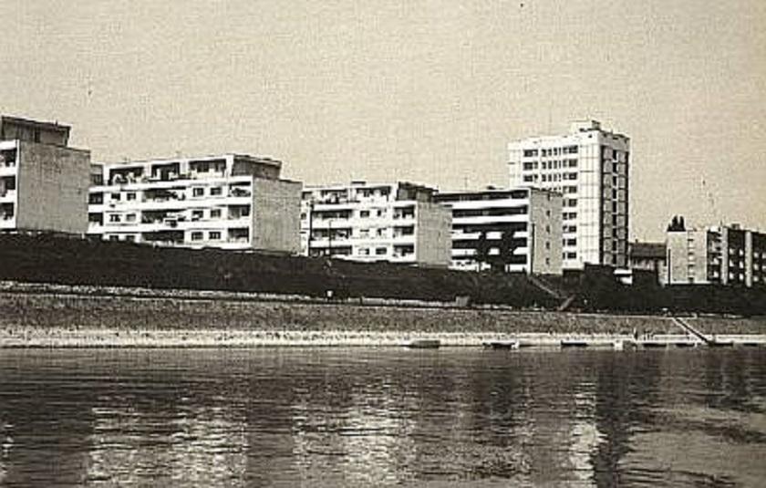 Obala Dunava osamdesetih.