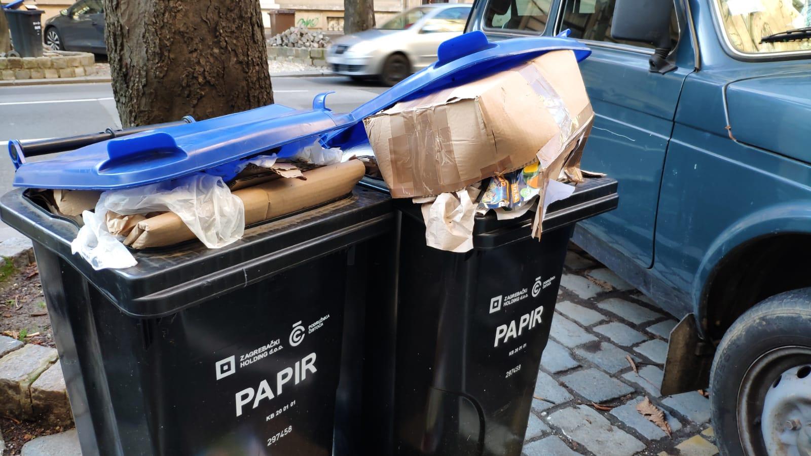 I u Hebrangovoj su kante za papir pretrpane