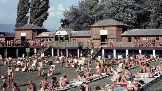 Savsko kupalište 1955. godine.