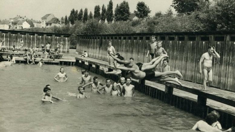 Matino kupalište u Slavonskom brodu, 1957. godine.