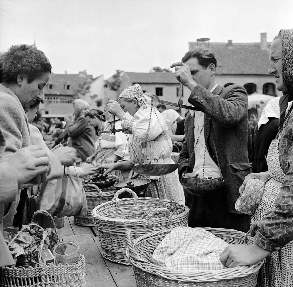 Stara zagrebačka tržnica 1950. godine