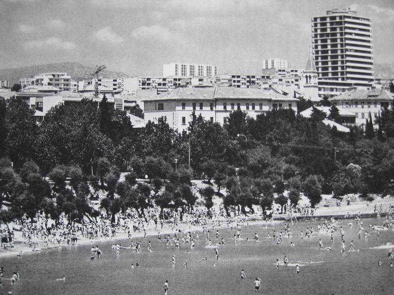 Bačvice 1960-ih godina.