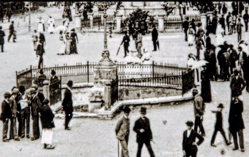 Trg bana Jelačića 1880. godine.