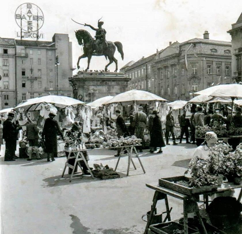 Trg bana Jelačića 1941. godine.