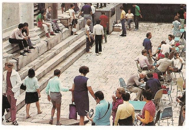 Splitski peristil 1981. godine