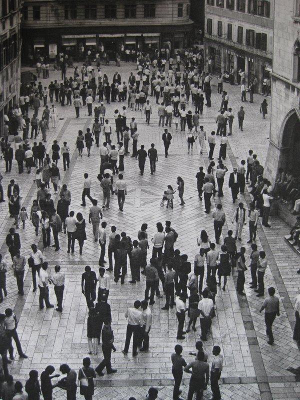 Pjaca u Splitu 1960-ih godina.