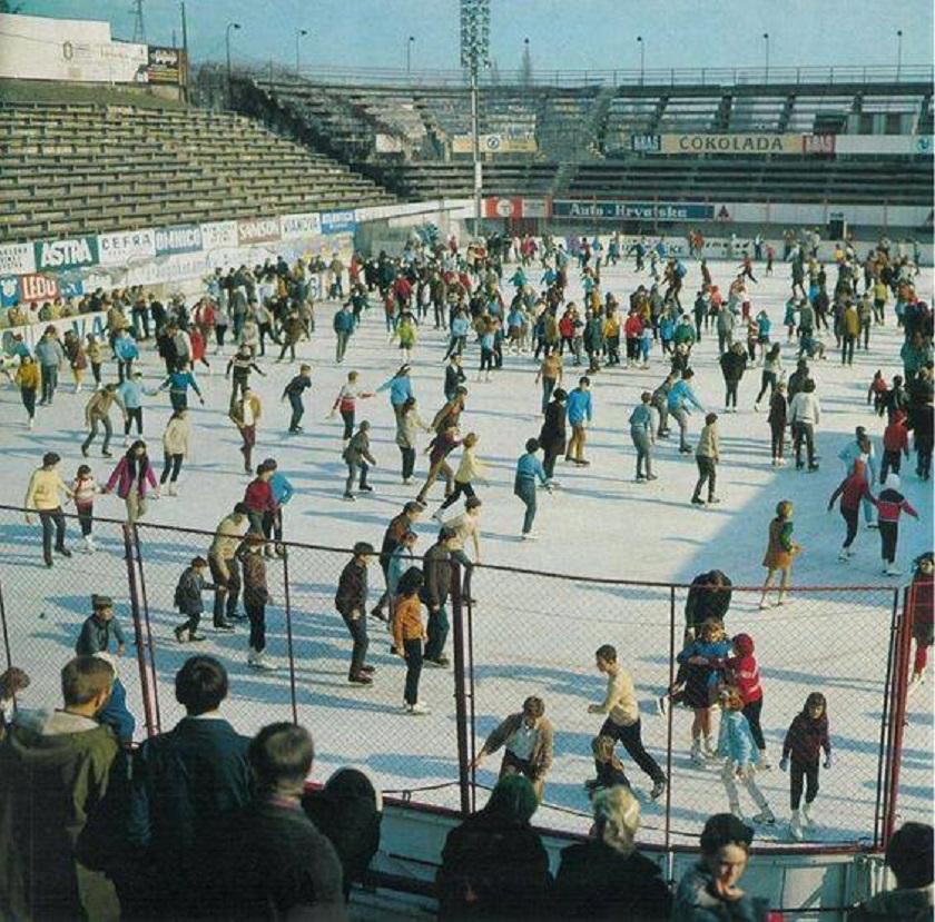 Klizalište na Šalati 1980-ih godina.