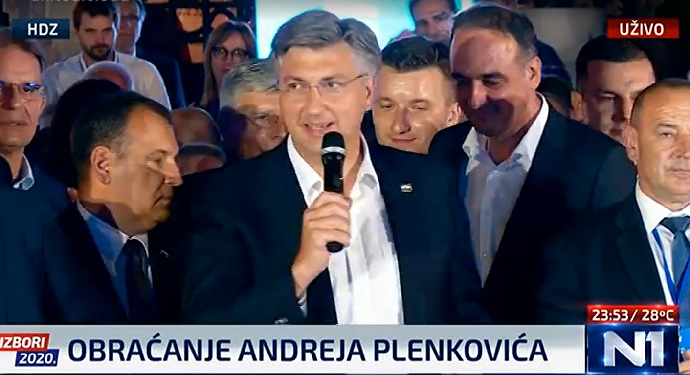 Plenković nakon pobjede održao suzdržan govor: 'Sutra od 9 ujutro krećemo raditi za Hrvatsku'