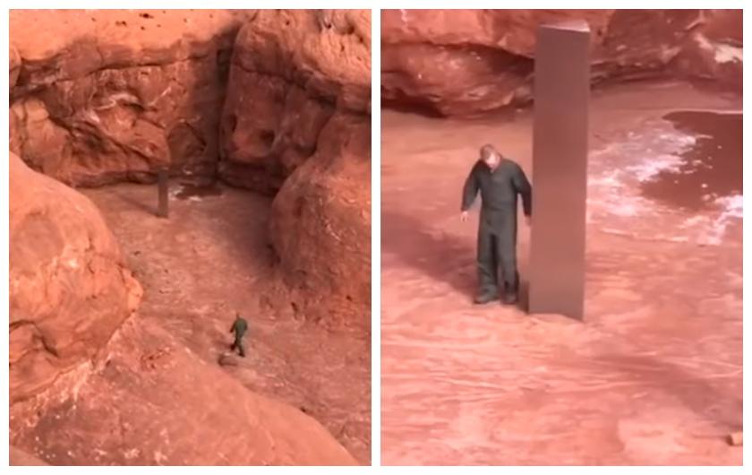Ljudi su u pustinji, dok su prebrojavali muflone, pronašli ovaj misteriozni obelisk. Internet je prepun teorija